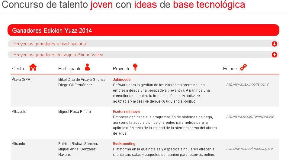 Ganadores Yuzz Alicante 2014